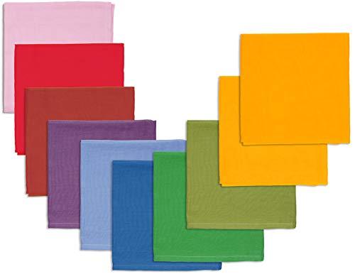 Bio Spieltücher 100% Bio-Baumwolle (kbA) GOTS zertifiziert, Herbstfarben, 115 x 105 cm, 10er-Set