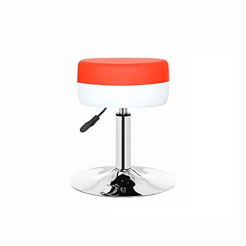 Stoellift, schoonheidssalon kassa kruk balie, in hoogte verstelbaar, 360° rotatie Modern design Large Rood