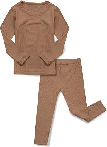 AVAUMA Baby Boys Girls Pajama Set Kids Toddler Snug fit Ribbed Rayon...
