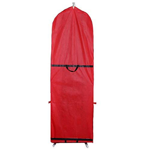 VerneAnn Staubdichte Tasche Reißverschluss Kleidung atmungsaktiv Aufbewahrung Hochzeitskleid Schutz tragbar Kleidersack Kleider mit Abdeckung faltbar lang (rot), nicht null, rot, Free Size