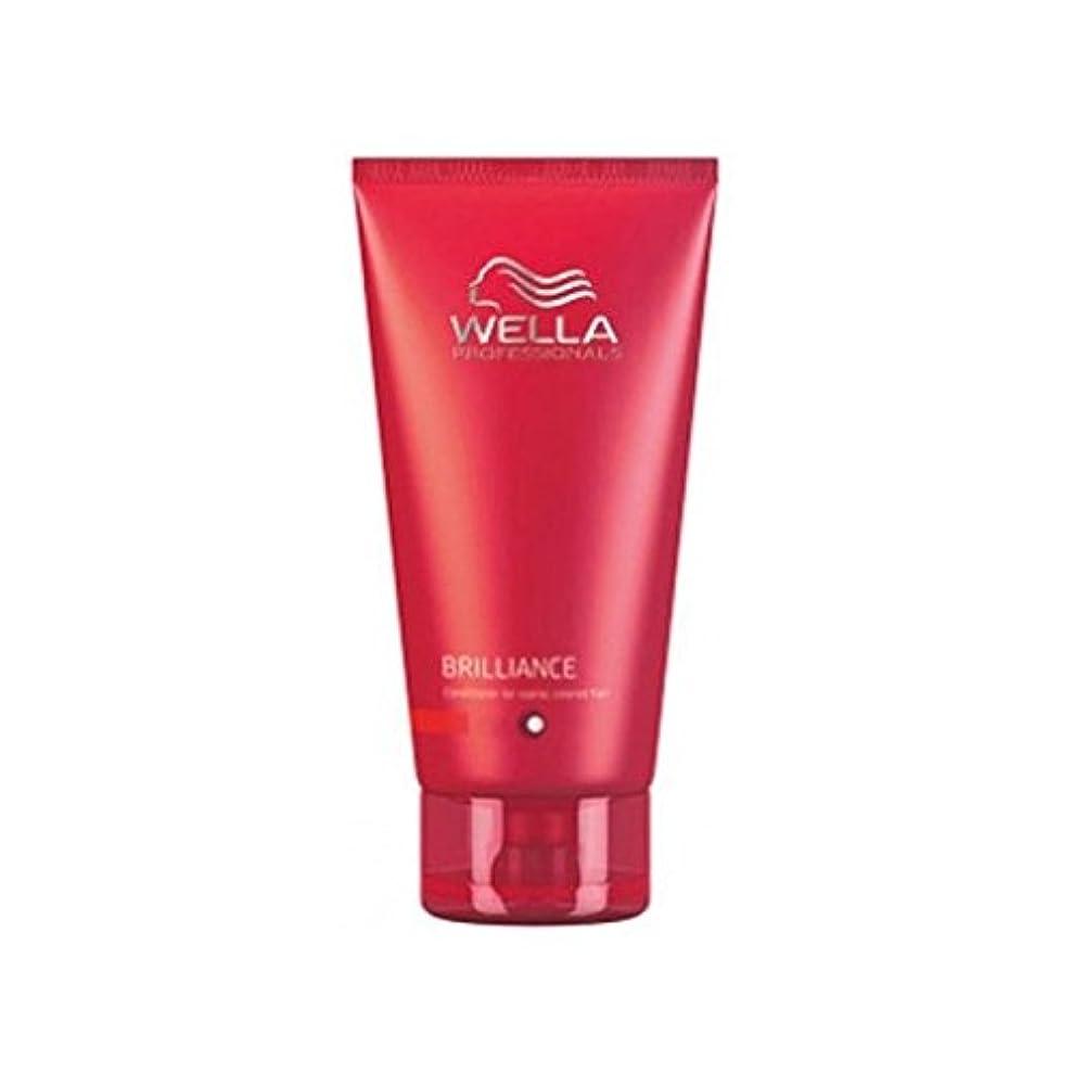 特定の彫る嬉しいですウェラの専門家が通常に細かいためのコンディショナーを輝き、色の髪(200ミリリットル) x2 - Wella Professionals Brilliance Conditioner For Fine To Normal, Coloured Hair (200ml) (Pack of 2) [並行輸入品]