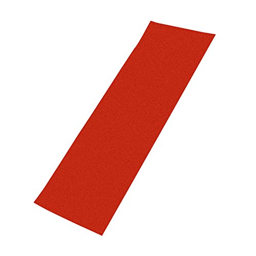 Skateboard Grip Tape, schuurpapier 84 x 23 cm luchtbellenvrij, waterdicht, zwarte Scooter Grip Tape, Longboard Grip Tape voor rollerboard, trappen, pedalen, pistolen, rolstoelen rood