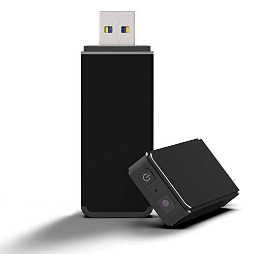 Mini Camara Espia USB Oculta Video Cámara, Tecnoxer 1080P HD Cámara Portátil Interior/Camaras de Seguridad Pequeña Interior/Exterior/Detección de Movimiento