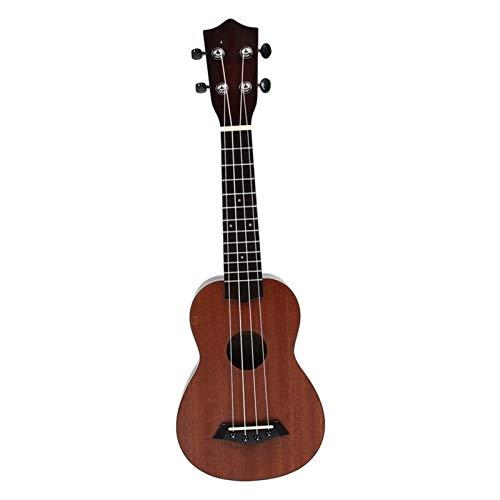 RJDJG 21 Pulgadas Ukulele Principiante Soprano Ukulele 4 Cuerdas Cuello de Guitarra Tuning Delicado Peg Q12.14