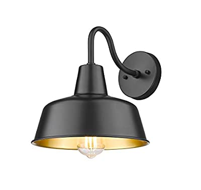 """Rosient Outdoor Barn Lights, Industrial Wall Sconce, Exterior Wall Lighting Fixture, Farmhouse Wall Lights (Black, 11.28""""H)"""