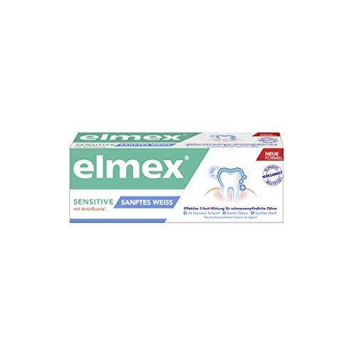 elmex tandpasta sensitive zacht wit, afmetingen van de test en reismaat 1 per verpakking (1 x)