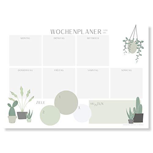 Planificador semanal Bloc A4 (50 hojas), sin fecha fija, bloc de escritorio con lista de tareas, planificador semanal de papel, planificador semanal sin fecha, planificador semanal, de Plantlady