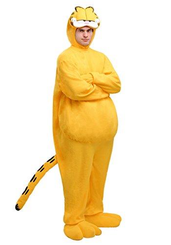 Adult Garfield Costume Small Orange