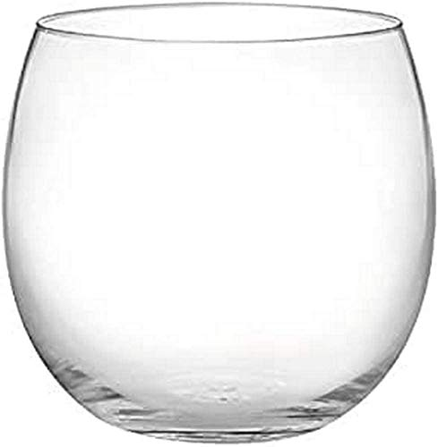 H&H Bubbly Set 6 Bicchieri Acqua, Vetro Ultrasottile, 460 ml
