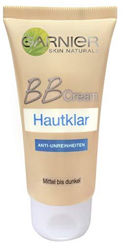 Garnier BB Cream Hautklar Anti-Unreinheiten Pflege, 5 in 1 Mittel bis dunkel