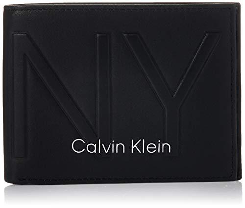 Calvin Klein Herren Shaped 5cc W/Coin Geldbörse, Schwarz (Black), 0.1x0.1x0.1 Centimeters