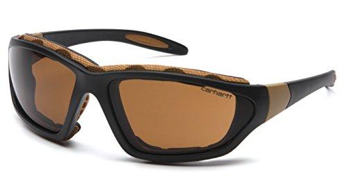 Carhartt Carthage Safety Eyewear with Vented Foam Carriage, Sandstone Bronze Anti-fog Lens