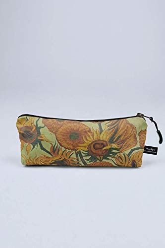 chille Federmäppchen   Federmappe groß für Mädchen und Jungen   Schlampermäppchen für die Schule   Stiften-Etui Van Gogh Sunflowers