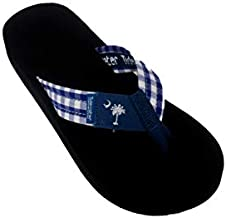Tidewater Women's Plaid Palmetto - Navy Sandals 11