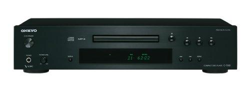 Onkyo C-7030(B) CD-Player (Wiedergabe von Audio CD/CD-R/CD-RW/MP3 CD, VLSC Technologie für Pulsrauschunterdrückung, Remote Interactive Fernbedienung, Gerätefront aus Aluminium), Schwarz