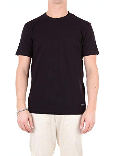 Mauro Grifoni Luxury Fashion Herren GE180020S39BLACK Schwarz Baumwolle T-Shirt | Jahreszeit Outlet