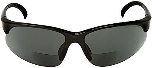 Sport Wrap Bifocal Sunglasses - Outdoor Reading Activity Sunglasses (Black, 1.5x))