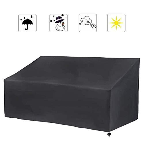 Funda para banco de jardín con características a prueba de agua, a prueba de viento y anti-UV Funda protectora para muebles para exteriores, para mesa, sofá, fundas para muebles de jardín,163x66x89cm