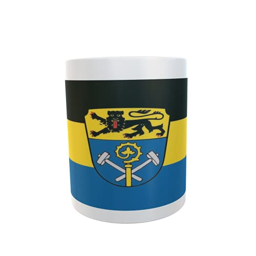 U24 Tasse Kaffeebecher Mug Cup Flagge Landkreis Weilheim-Schongau