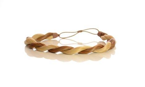 Bandeau à Cheveux Torsade Effet Corde Blond Caramel Deux Tons | Bandeau à Cheveux Corde | Bandeau à Cheveux à Elastique