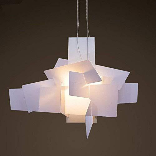 GWFVA Moderne hanglamp design minimalistische kroonluchter woonkamer slaapkamer mode hanglamp creatieve persoonlijkheid wit eettafel in hoogte verstelbare verlichting, 2 x E27 \u0026 Oslash;