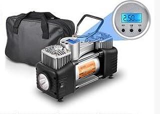 Bellveen Double Cylinders 12V DC Heavy Duty Metallic Tyre Inflator Air Compressor Pump with Digital Display Gauge & Light