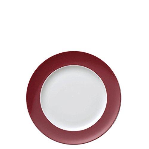 Assiette à Dessert Thomas Sunny Day, Petite Assiette, Porcelaine, Fuchsia / Rouge, Compatible Lave-Vaisselle, 22 cm, 10222