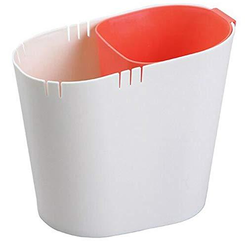 Desktop Sorteren Prullenbak Droog en nat scheiden Creatieve kleine prullenbak Papierafvalbak Home Product Keuken Tuin Gereedschap