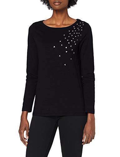 edc by Esprit 110CC1K312 Camiseta, 001/negro, XXS para Mujer