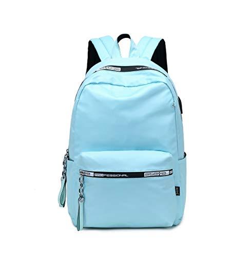 Acmebon Mädchen Universität Rucksack klassisch robust bunt Rucksack einfach sportlich Tasche Hellblau