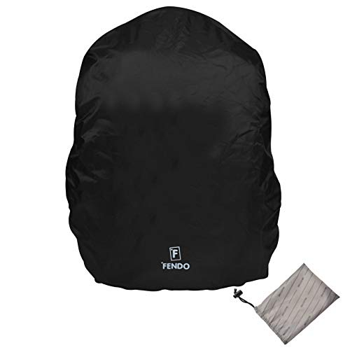 Fendo Rain-Guard Rain & Dust Cover Waterproof for Laptop Casual Backpack with Pouch, Black