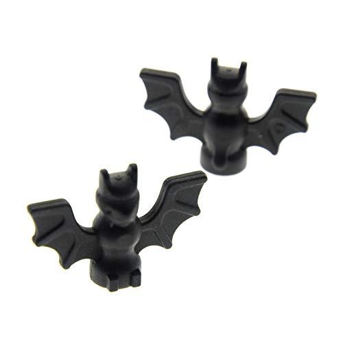 2 x Lego System Tier Fledermaus schwarz Bat Ritter Castle Batman Harry Potter 7783 4709 7074 6029 6007 30103