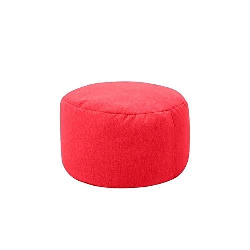 ZHAO Kleine runde Faule BeanBag Sofas Abdeckung wasserdichtes Stofftier Lagerung Spielzeug Bean Bag Solid Color-Stuhl-Abdeckung Beanbag Sofas (Farbe : Rot)