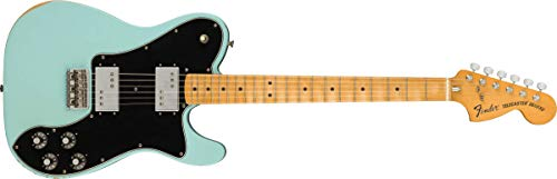 Fender Vintera Road Worn '70s Telecaster Deluxe Electric Guitar, Maple Fingerboard, Daphne Blue