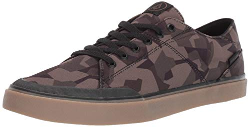 Volcom Men's LEEDS Suede Vulcanized Skate Shoe, Camouflage, 7.5 D US
