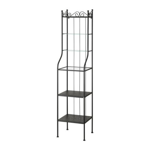 Ikea RONNSKAR Regal schwarz 42x176 cm