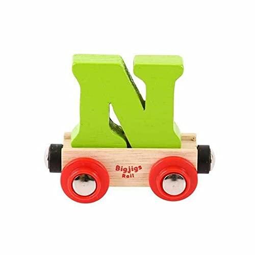 Bigjigs Rail Wagon Wooden Train Tracks - Letter N