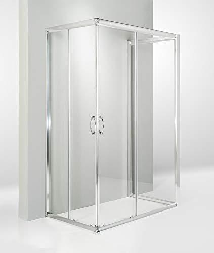 HYDRA Box Doccia 3 Lati Porta Scorrevole 70x90x70 cm Trasparente