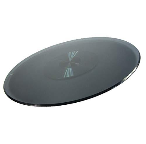 Susan faul - Round Rotating Tray, Aluminiumunter/gehärtetes Glas, Konferenztisch Familie Bankett, Sturdy