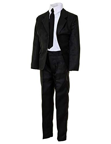 Festlicher 4tlg. Jungen Anzug für Hochzeiten und viele weitere Festliche Anlässe M503sw Schwarz 17/176