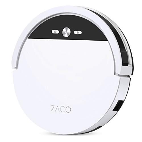 ZACO V4 Saugroboter mit bürstenloser Direktabsaugung, Ideal für Tierhaare und Hartböden, Leistungsstarker Max-Modus, Beutellos, mit Ladestation, Automatischer Staubsauger Roboter mit Fallschutz - 11