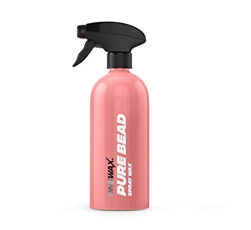 OneWax® Pure Bead Spray Wax 500ml Sprühwachs Wachsspray Langzeit Schutz für den Lack + hoher Abperleffekt + Hochglanz Autowachs + Schnelle Anwendung (1 STK)