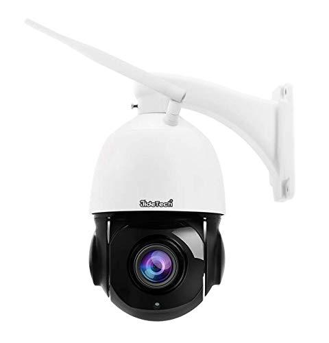 JideTech Überwachungskamera aussen WLAN,5MP PTZ Dome IP Kamera Outdoor Unterstützt 20x optischen Zoom, 2 Kanal Audio 220fts Nachtsicht, IP66 Onvif Überwachung, Unterstützung 128 GB SD Karte