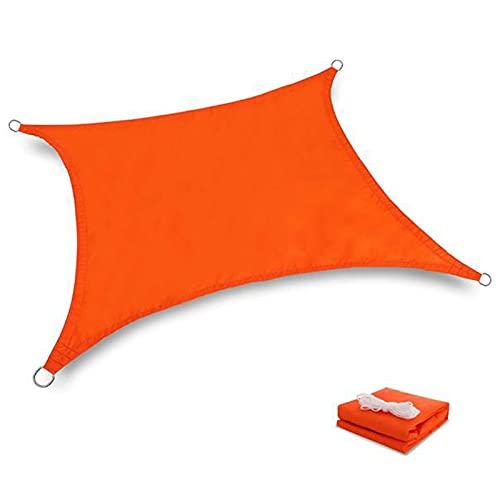 LIXIAOLIANSD Red de sombreado para verano, impermeable, rectangular, cubierta de toldo para jardín, terraza, piscina, camping, patio, vela toldo de jardín (color: naranja, tamaño: 2 x 3 m)