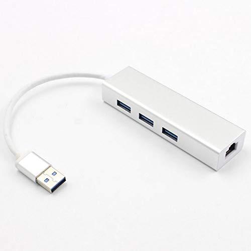 Peanutaoc netwerkadapter USB 3.0 naar drie poorten Ethernet RJ45 lan-gigabit connector
