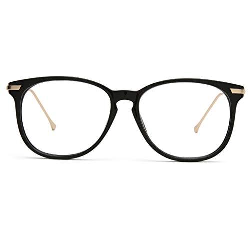 Retro ronde leesbril voor mannen en vrouwen, Trend Personality Telescope, Anti Fatigue, HD Resin Lens (Kleur : Zwart, Maat : 2.25x)
