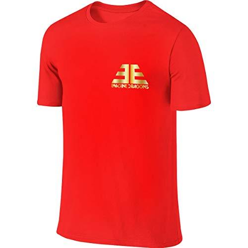 Imagine The Dragons Jugend Männer T-Shirt Golf Poloshirts Kurzarm S-6xl Casual Fitness Shirts Rundhalsausschnitt Baumwolle Sport Top 6XL