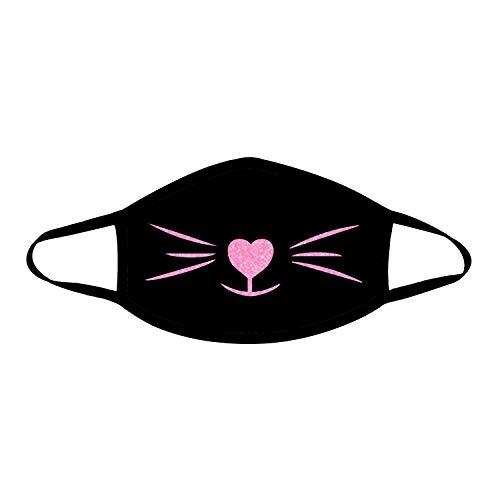 1. Glitter Cat Face Mask