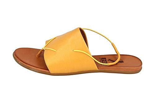 MUSTANG Shoes 8003-801-6 Tongs pour femme Jaune - Jaune - jaune, 42 EU