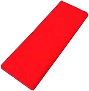 新モス(新毛斯) 赤/白色晒 一反10m お神輿、お祭り、新築の柱に紅白巻きやお祝いに巻く 専門白い晒